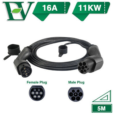 EV Charging Cable Electric Vehicle Plug Charger Three Phase 16A Type 2 To Type 2
