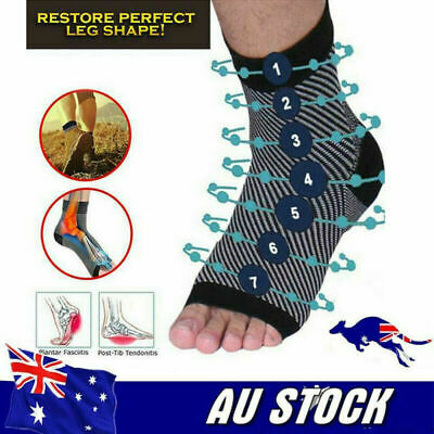 Dr Socks Soothers Anti-Fatigue Compression Foot Sleeve Support Brace Sock