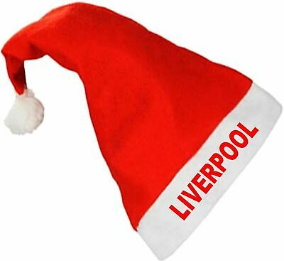 Liverpool FC Football Club Santa Father Christmas Xmas Hat - Fun!