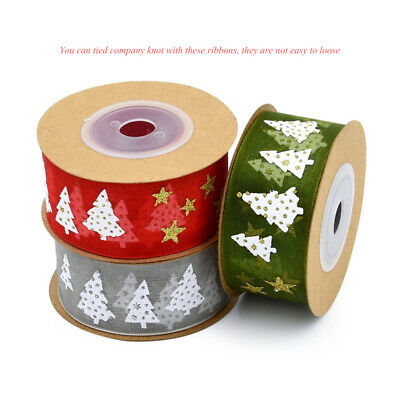 Christmas Organza Ribbon Sparkly Gift Wrap Tying Wreath Tree Decoration Hot