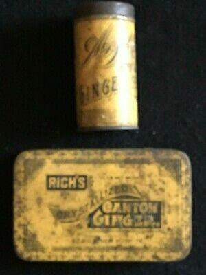 Vintage Tin Lot: A&P Sultana Spice Mills Ginger & Rich's Canton Ginger