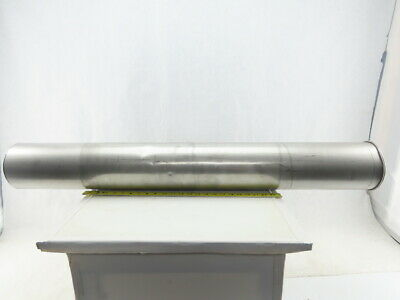 "6"" Stainless Steel Ducting Tube One Rolled End Other End Cut 44"""