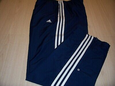Details about Rare Vintage 90s Adidas Navy Blue Glanz Nylon Track Pants Scally Trackies Large