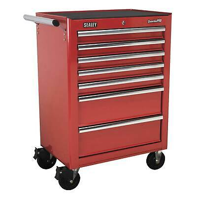 Sealey Rollcab 7 Drawer with Ball Bearing Runners - Red - AP26479T