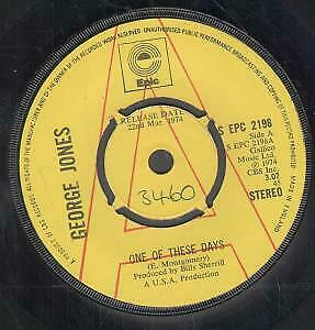 """GEORGE JONES One Of These Days 7"""" VINYL Demo B/w We Can Make It (epc2198) Numb"""