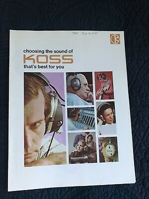 Koss Headphones Catalog 15 pages from 1970's Beautiful!