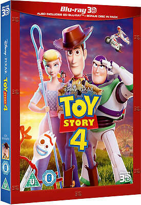 TOY STORY 4 (2019) 3D + 2D Blu-Ray with slipcover BRAND NEW Free Ship IN STOCK