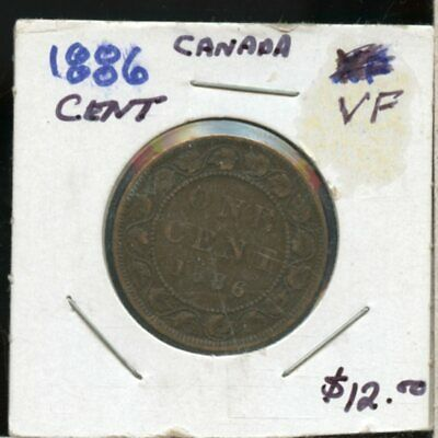 1886 Canada 1 Cent Coin Fh59