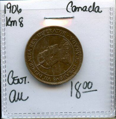 1906 Canada 1 Cent Coin Fe242