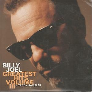BILLY JOEL Greatest Hits Volume 3 CD 5 Track Promo Sampler In Card Sleeve Feat