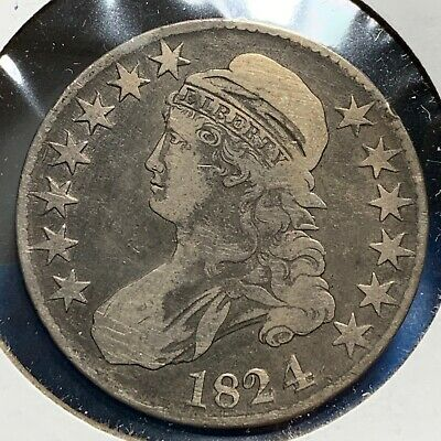 1824 50C Capped Bust Half Dollar (52528)