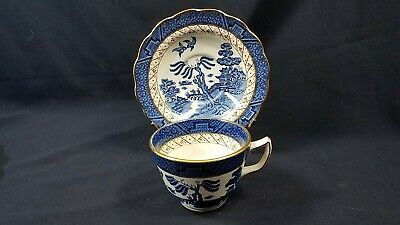 Booths Real Old Willow Blue #A8025 Cup & Saucer MINT EUC