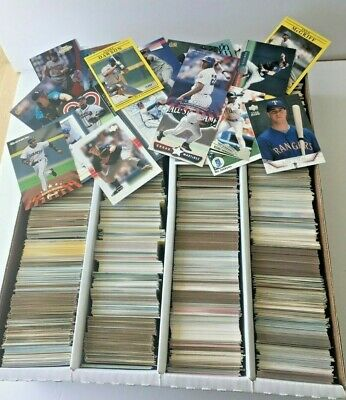 HUGE Lot Baseball Cards appx 3000 some stars HOF Rookies Commons 1990's 2000's 2
