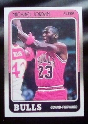 1988 Fleer Basketball Michael Jordan #17 Reprint novelty card.Bulls.Mint.Free Sh
