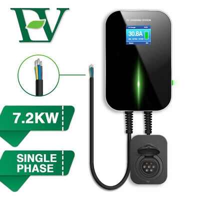 EV Charging Station Single-phase Charger with Socket Electric Car Wallbox 7.2KW