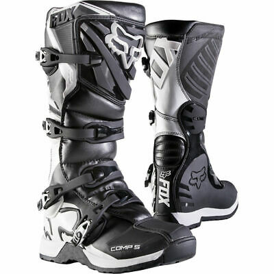 FOX Youth Comp 5Y Boot Black Motocross Mx Off Road Boot
