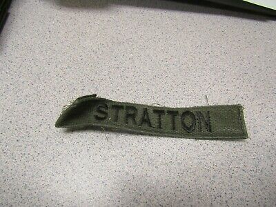 MILITARY PATCH US ARMY CLOTH SEW ON OLDER AIR CREWMAN OD GREEN SUBDUED