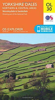 Yorkshire Dales Northern & Central (OS Explorer Map) by Ordnance Survey, NEW Boo