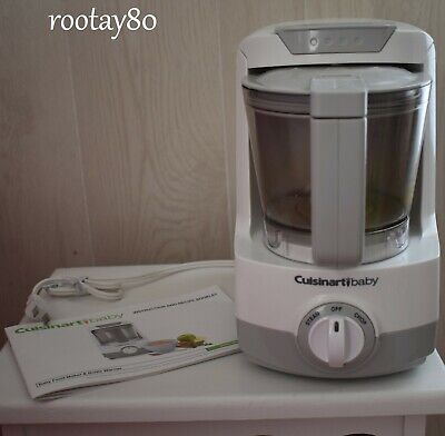 Cuisinart Baby Food Maker & Bottle Warmer Food Processor W/ Recipe Booklet