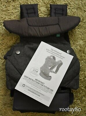 Infantino Flip ADVANCED 4-in-1 Convertible Carrier Gray Newborn Baby w/Manual