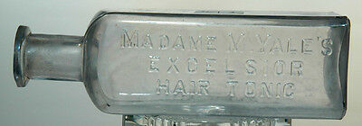 Madame M. Yale's Excelsior Hair Tonic Hand Finished Bottle