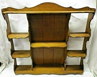 BUTLER HANGING WOODEN WALL SHELF CURIO CABINET DANISH MID MODERN Cup Plate RACK