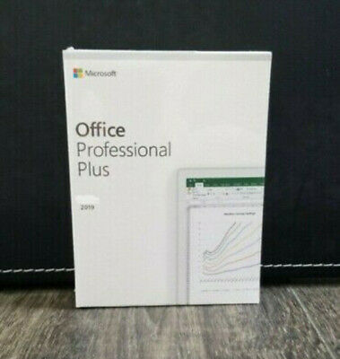 Microsoft Office 2019 Pro Professional Plus Retail For 2 PC