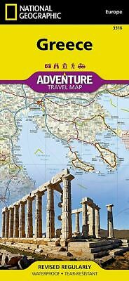 National Geographic Greece Europe Adventure Travel Road Map 3316