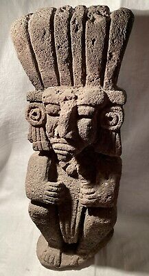 Aztec Volcanic Stone Figure Statue NO Authentication