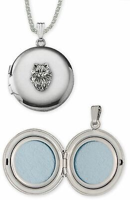 Keeshond Jewelry Sterling Silver Handmade Keeshond Photo Locket  KSH1H-D
