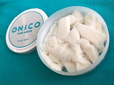 10 Cans Onico Pure White Slim Portion Snus is an all white tobacco nicotine Free