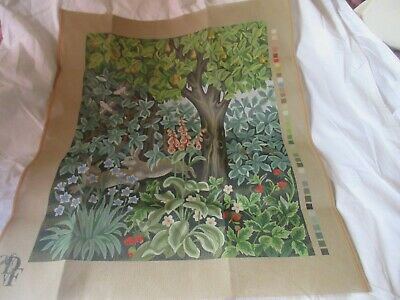 Beth Russell Needlepoint Tapestry KIT GREENERY HARES William Morris Firescreen