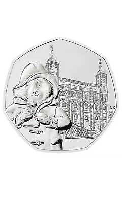 UNCIRCULATED PADDINGTON BEAR 50p PENCE TOWER OF LONDON COIN 2019 FROM SEALED BAG