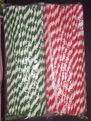 Chenille Stems Candy Stripe Red & White OR Green & White  NEW