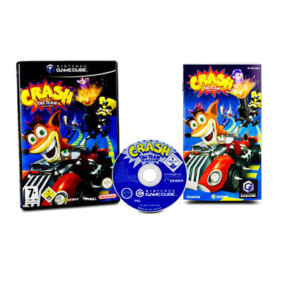 Nintendo Gamecube Game Crash Tag Team Racing in Original Package with Guide