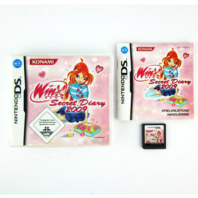 Nintendo DS Game Winx Club Secret Diary 2009 in Original Packaging with Guide