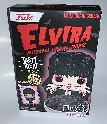 Funko Elvira Mistress of The Dark Funko's Cereal W/ Pocket Pop Hot Topic New NIB