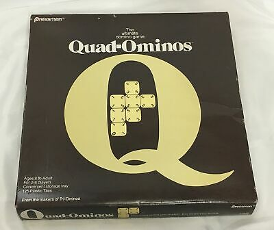 QUAD-OMINOES -  1978 Pressman Ultimate Domino Game
