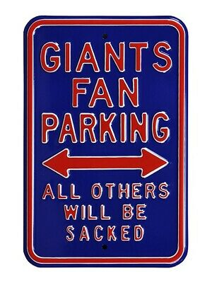 New York Giants Parking Signer Parc Bouclier, NFL Football, 45 cm, Must See