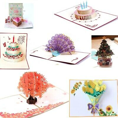 3d Greeting Cards Pop Up Card Birthday Cards Xmas Blank Greeting Card Assortment