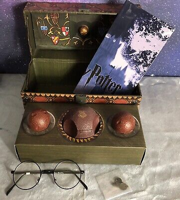 Harry Potter: Collectible Quidditch Set with Bonus Harry Potter Glasses
