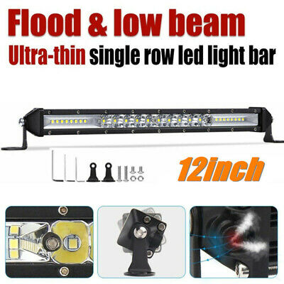 12 Inch LED Light Bar 300W Single Rows Spot Flood Combo Offroad SUV Driving Lamp