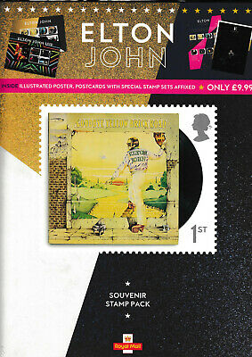 GB 2019 ELTON JOHN A4 SIZE ROYAL MAIL SOUVENIR STAMP PACK produced for W.H.SMITH