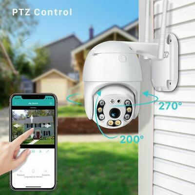 Outdoor PTZ IP Camera CCTV HD 1080P WiFi Motion Alert Security Dome Night VIsion