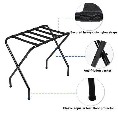 Portable luggage rack Clothing stand Fold Metal durable Shelf Travel case rack