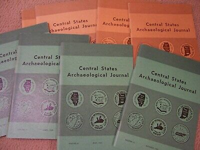 8 Early Copies Of The Central States Archaeological Journal 1968, 1969