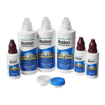 Bausch & Lomb Boston Advance Formula Contact Lens Solution 3X120ml & 3X30ml