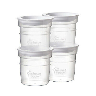 Tommee Tippee Closer to Nature Breast Milk Storage Pots 4's - 60ml