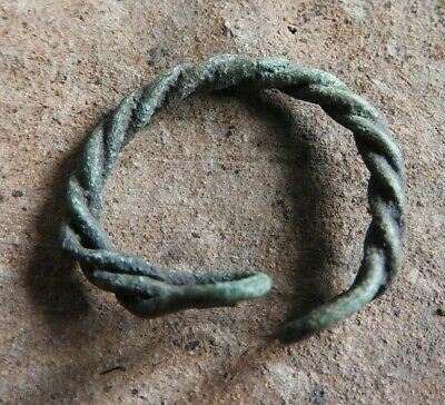 The twisted ring of the Vikings of Kievan Rus 10-13 AD size 19 mm