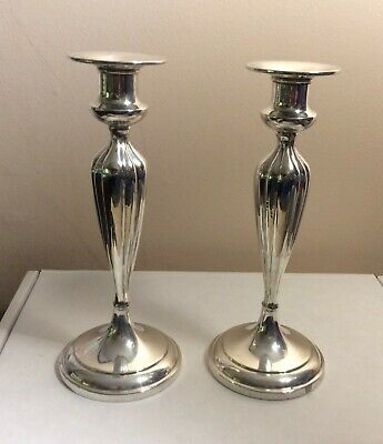 Pair of Bailey Banks & Biddle Co. Sterling Silver Candlesticks